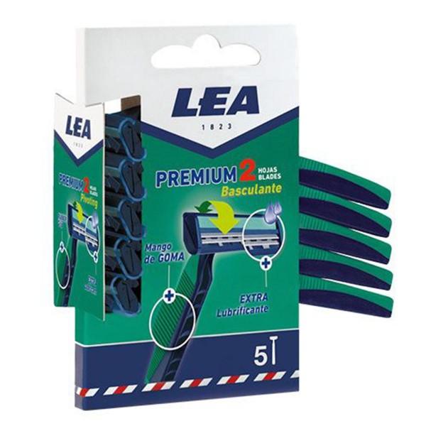 Lea premium 2 hojas basculantes cuchillas desechables pack 5u.