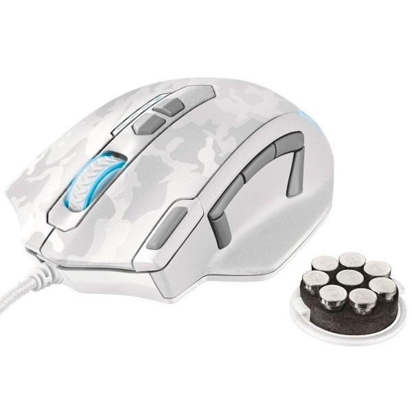 Trust gxt 155 camuflaje blanco ratón caldor gaming mouse 4000 dpi