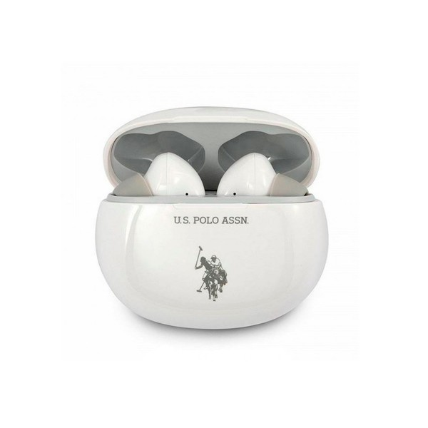 Cool auriculares polo ralph lauren blanco/bluetooth/base de carga