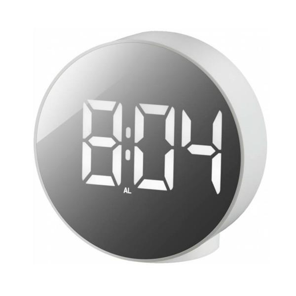 Bresser mytime echo fxr blanco / reloj despertador / termómetro